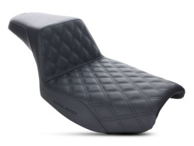 Step-Up Front LS Dual Seat with Black Double Diamond Lattice Stitch. Fits FXR 1982-1994.