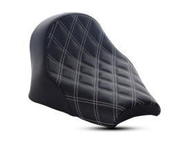 Renegade LS Solo Seat with Silver Double Diamond Lattice Stitch. Fits Scout Bobber 2018up.