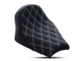 Renegade LS Solo Seat with White Double Diamond Lattice Stitch. Fits Scout Bobber 2018up.