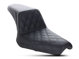 Step-Up LS Dual Seat with Black Double Diamond Lattice Stitch. Fits Yamaha Bolt 2013up.