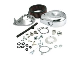 Teardrop Air Cleaner Kit - Chrome. Fits Twin Cam 2008-2017 with Throttle-by-Wire.