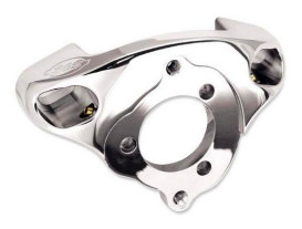 Single Bore Tuned Induction Bracket - Chrome. Fits Big Twin 1984up with S&S Super E & G Carburettor.