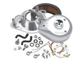 Teardrop Air Cleaner Kit - Chrome. Fits Big Twins 1989-2017 with CV Carb or Cable Operated Delphi EFI.