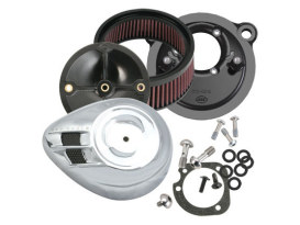 Air Stream Air Cleaner Kit - Chrome. Fits Sportster 1991up with CV Carburettor or EFI.