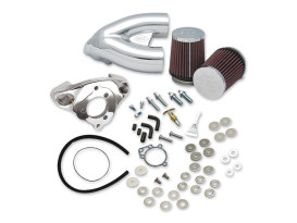 Single Bore Tuned Induction Kit - Chrome. Fits Big Twin 1984-2006 with Super E or G Carburetor.