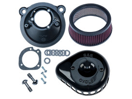 Mini Teardrop Air Cleaner Kit - Black. Fits Sportster 2007up with EFI.
