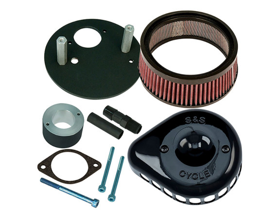 Mini Teardrop Air Filter Assembly with Black Finish. Fits XG500 2015up.