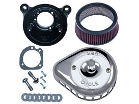 Mini Teardrop Air Cleaner Kit - Chrome. Fits Sportster 1991-2006 with CV Carburettor.