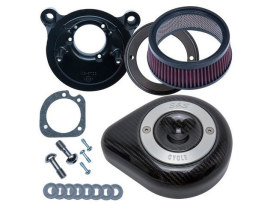 Stealth Air Cleaner Kit - Carbon Fibre. Fits Twin Cam 2008-2017 with Throttle-by-Wire.