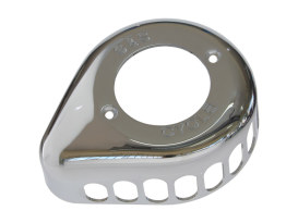 Stinger Teardrop Air Cleaner Cover - Chrome. Fits S&S Stealth Air Cleaners.