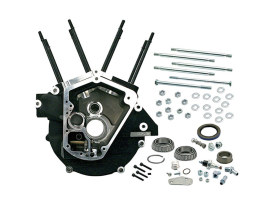 Alternator Style Crankcase Assembly with 3-1/2in. Bore - Black. Fits Big Twin 1992-1999.
