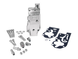 High Volume , High Pressure Billet Oil Pump with Polished Finsih. Fits  Big Twin 1992-99 style Super Side Winder 4-1/8