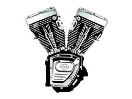 124ci Twin Cam B Engine - Black. Fits Softail 2007-2017.