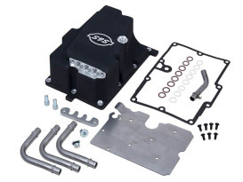Oil Supply Line Installation Kit - Black. Fits FXD 2006-2007 with S&S Engine.