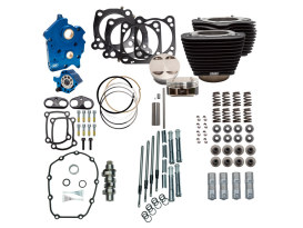 128ci Big Bore Kit with Chain Drive 550 Cam & Chrome Pushrod Tubes. Fits Milwaukee-Eight 2017up with 114ci Oil Cooled Engine.