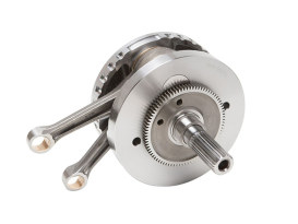 131ci, 4-5/8in. Stroker Flywheel Assembly. Fits Milwaukee-Eight 2017up. Takes 114ci to 117ci or 107/114ci to 131ci when using S&S 131ci Big Bore Cylinders.