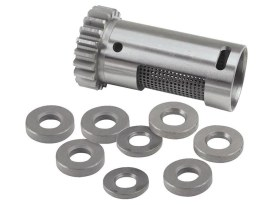 Standard Steel Rotary Breather Gear Kit with Shims. Fits Big Twin Late 1977-1999.