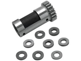 Standard Steel Rotary Breather Gear Kit with Shims. Fits Big Twin 1948-Early 1977.