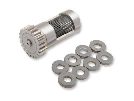 +.030in. Steel Rotary Breather Gear Kit with Shims. Fits Big Twin Late 1977-1999.