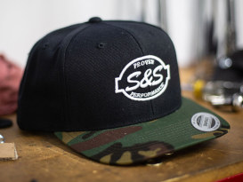 S&S Cycle Classic Snapback with Camo Visor