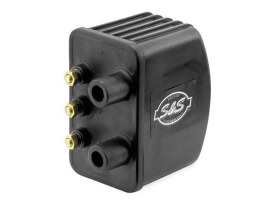 Ignition Coil - Black. Fits Big Twin 1970-1999 & Sportster 1971-2003 Models with Upgraded Single Fire Ignition.