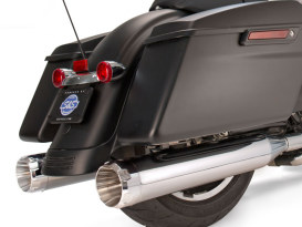 4-1/2in. Mk45 Slip-On Mufflers - Chrome with Chrome Thruster End Caps. Fits Touring 1995-2016.