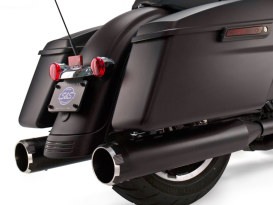 4-1/2in. Mk45 Slip-On Mufflers - Black with Black Thruster End Caps. Fits Touring 1995-2016.