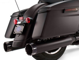 4-1/2in. Mk45 Slip-On Mufflers - Black with Black Tracer End Caps. Fits Touring 1995-2016.