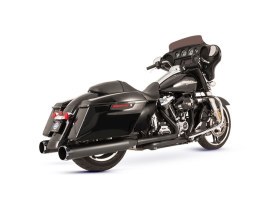 El Dorado 2-into-2 Dual Exhaust - Black with Black Thruster End Caps. Fits Touring 2017up.