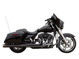 2-into-1 Sidewinder Exhaust - Black with Black End Cap. Fits Touring 1995-2016.
