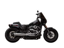 2-into-1 SuperStreet Exhaust - Chrome with Black End Cap. Fits Softail 2018up Non-240 Rear Tyre Models.
