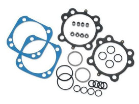 Top End Gasket Kit. Fits Big Twin 1999up with OEM Crankcases & S&S 124in.,  4-1/8in. Bore Hot Set Up Kit.