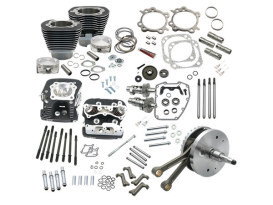 124ci Hot Set Up Kit with 91cc S&S Cylinder Heads - Black. Fits Twin Cam 88B Softail 2000-2006. </P><P>
