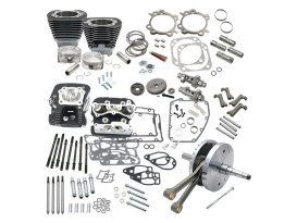 124ci Hot Set Up Kit with 91cc S&S Cylinder Heads - Black. Fits Twin Cam Softail 2007-2017.