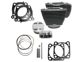 124ci Big Bore Kit with Highlighted Fins - Black. Fits Milwaukee-Eight 2017up with 107ci Engine.