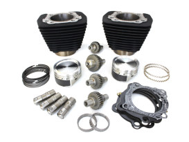 Hooligan 883cc to 1200cc Kit with Black Finish. Fits Sportster 2000up.
