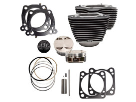131ci Stroker Big Bore Kit with Highlighted Fins - Black. Fits Milwaukee-Eight 2017up with S&S 4-5/8in. Stroker Flywheel.
