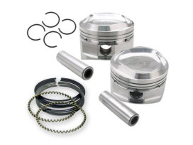 +.020 Pistons. Fits Big Twin 1984-1999 with S&S Super Stock Heads.</P><P>