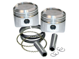 +.005 Domed Top Pistons. Fits Big Twin 1984-1999 with S&S Super Stock Heads.