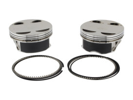 +.010in. Pistons. Fits 131ci Milwaukee-Eight 2017up with 4.250in. Bore & S&S 4-5/8in. Stroker Flywheels.