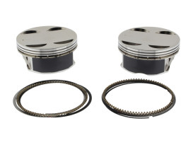 Standard Pistons. Fits 131ci Milwaukee-Eight 2017up with 4.250in. Bore & S&S 4-5/8in. Stroker Flywheels.