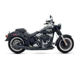 SuperMeg 2-into-1 Exhaust - Black. Fits Softail 1986-2017.