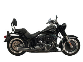 FatShot 2-into-1 Exhaust - Black. Fits Softail 1986-2017.