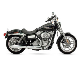 SuperMeg 2-into-1 Exhaust - Chrome. Fits Dyna 1991-2005.