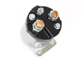 Start Solenoid - Chrome. Fits Big Twin 1965-1986 with 4 Speed Transmission, Softail 1984-1988 & Sportster 1967-1980.
