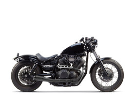 Comp-S 2-into-1 Exhaust - Black with Carbon Fiber End Cap. Fits Yamaha Bolt 2013up.