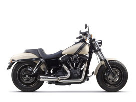 Comp-S 2-into-1 Exhaust - Stainless Steel with Carbon Fiber End Cap. Fits Dyna 2006-2017.