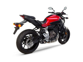 Black & Aluminum Full Exhaust System. Fits Yamaha MT-07, FZ-07, XSR700 2013up.