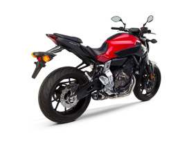 Black Carbon Full Exhaust System. Fits Yamaha MT-07, FZ-07, XSR700 2013up.