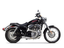 Comp-S 2-into-1 Exhaust - Stainless Steel with Carbon Fiber End Cap. Fits Sportster 2004-2013.